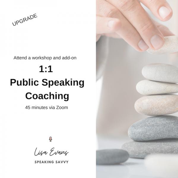 1:1 Public Speaking Coaching Upgrade