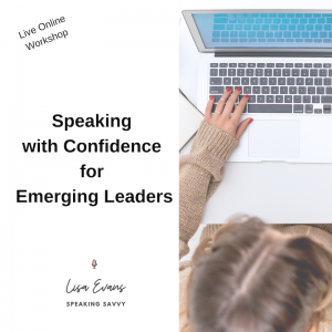 Speaking with confidence live online workshop