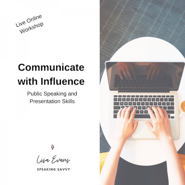 communicate with influence public speaking workshop