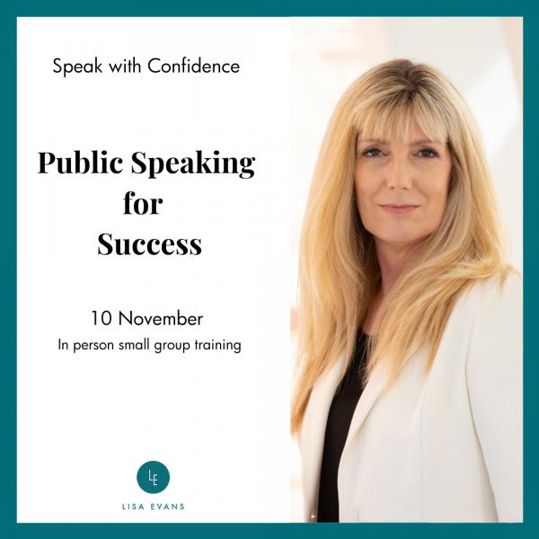 10 November Public speaking for success