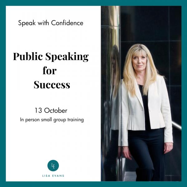 13 October Public speaking for success
