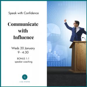 Public speaking training january 2021