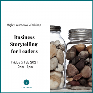 Business storytelling for leaders training