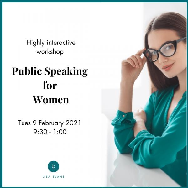 public speaking for women training