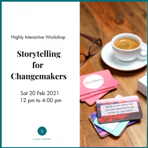 Storytelling for Changemakers training