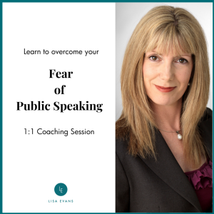 Lisa Evans photo fear of public speaking coaching