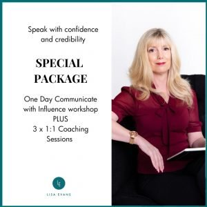 Public speaking coaching and workshop package