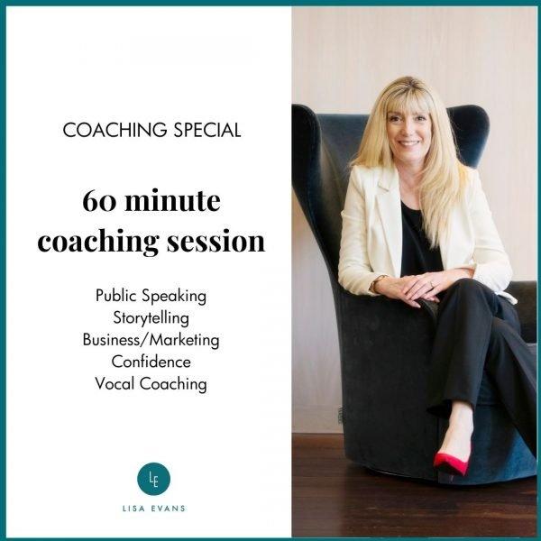 Public Speaking Coaching session 1:1