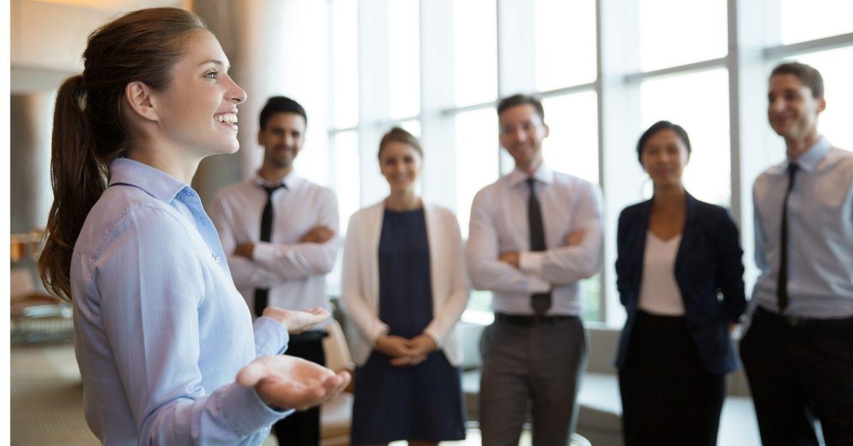 woman with confident executive presence